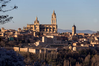 Segovia Cathedral, Old town of Segovia and its aqueduct, Spain